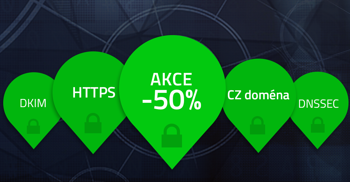 50% sleva na webhosting a balíček k zabezpečení domény