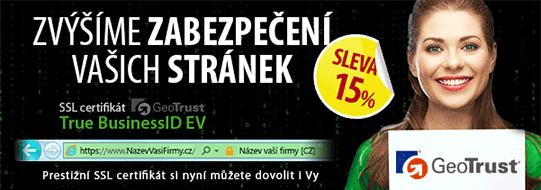 AKCE 15% sleva SSL certifikát